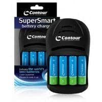 Contour SuperSmart Battery Charger with 4 x World Best Batteries