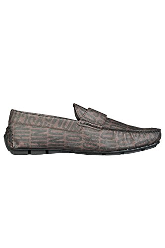 Moschino All Over Print Slip On Homme Chaussures Marron Marron