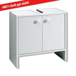 ROLLER Waschbeckenunterschrank – weiß – mit Syphonausschnitt - 4