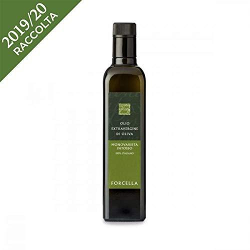 Olio extravergine di oliva intosso - forcella - abruzzo - bottiglia di vetro - ml - intosso -