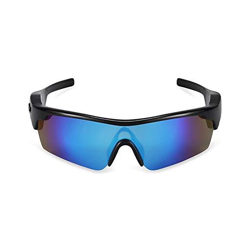 JAY-LONG Bluetooth-Smart-Brillen, Stilvolle Polarisierte Sonnenbrillen, Multifunktions-Sonnenbrillen Von Drive, Verlustfreie KlangqualitäT, Lautsprecher- Und Headset-Dual-Modus,Blue