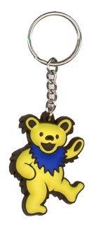 GDP Inc., / Grateful Dead Dancing Bear KEYCHAIN PORTE-CLÉS - Yellow - 1.25