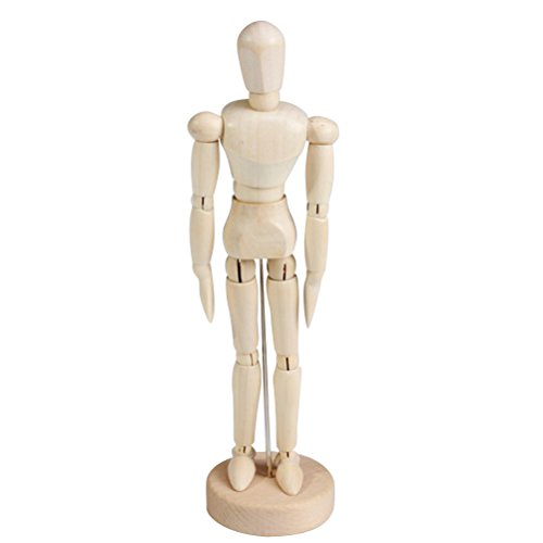 TOYMYTOY Wooden Manikin Human Mannequin Model Drawing Sketching Figure Model