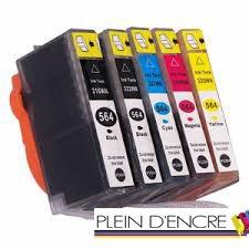 Pack 5 cartouche de remplacement HP 364 XL / Grande capacité / Haute Qualité / Noir et Couleur pour imprimante HP Deskjet 3070A 3520 E-All-In-One 3522 E-All-In-One 3522A OfficeJet 4620 4622 Photosmart + + B209 + B210 + B210A + B210C + EAIO 2011 2011 Wifi 5510 5515 E-All-In-One 5520 5520 E-All-In-One 5524 6510 6510 E-All-In-One 6520 7510 7510 E-All-In-One 7520 7520 E-All-In-One B010 B010A B109 B109A B109D B109N B110 B110 Series B110A B111 B207 C310A C310B C310C C410 C5300 Series C5324 C5380 C5390 C6300 Series C6324 C6380 CN255B CN503B D5460 EStation Plus Plus B209 Plus B210 Plus B210A Plus B210C Plus EAIO 2011 Premium Premium C309A Premium C309G Premium C310A Premium C310b Premium C310C Premium EAIO 2011 C310a Premium E-All-In-One C310a Value Edition Wifi EAIO 2011 Photosmart Pro B8550 - PLEIN D'ENCRE