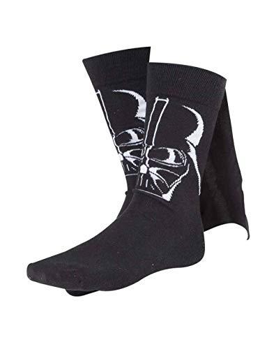 Meroncourt Herren sokken Darth Vader Cape , Schwarz - 39-42 EU