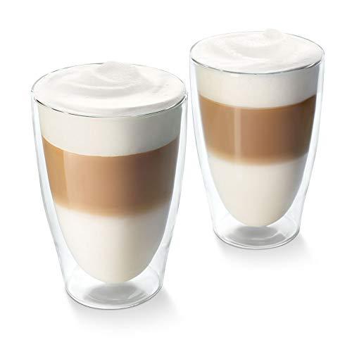 Tchibo Cafissimo Latte Macchiato Gläser doppelwandiges Thermoglas 2er Set