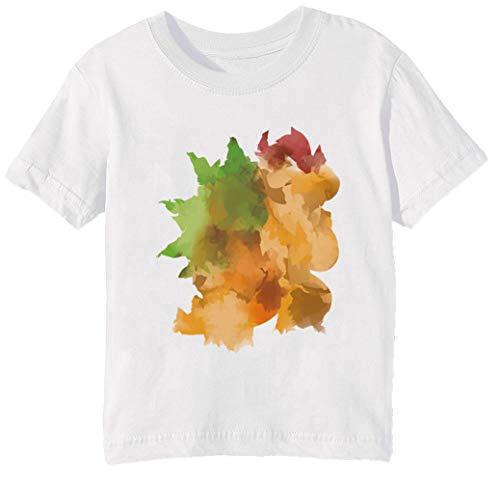 7e211547ba0119 Erido Bowser dipingere - Hht88 Bambini Unisex Ragazzi Ragazze T-Shirt  Maglietta Bianco Maniche Corte