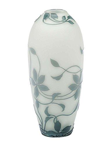 Vase Replika nach Galle Gallé Glasvase Glas Antik-Jugendstil-Stil Kopie 28cm
