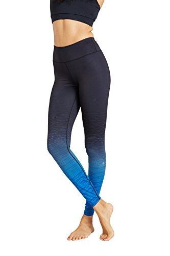 Zakti Bend And Balance Ombre Leggings Blu petrolio