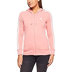 Adidas 3Str Zip Chubasquero Para Mujer Color Rosa Talla 40