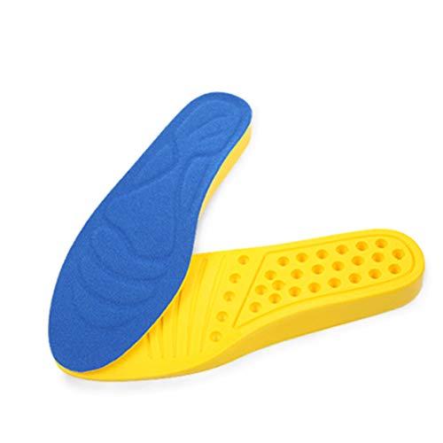 JOEPET Höherlegungs-Einlegesohle - Hohe Sohle mit mittlerer Sohlenunterstützung 3/4 Länge - Schuh-Einlegesohle für Männer - 2,5 cm Höher,Blue,L -