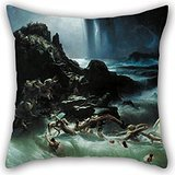 Beautifulseason Oil Painting Francis Danby - The Deluge Pillow case/Kissenbezüge 20 X 20 Inches / 50 By 50 Cm For Wife,valentine,bedding,family,valentine,bench With Each Side