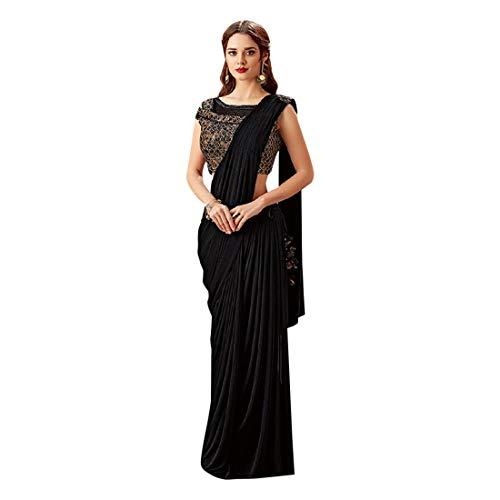 ETHNIC EMPORIUM - Vestito da donna in lycra, elegante e alla moda, ideale per feste, Sari, festival, lavori pesanti, cerimonie, pakistani, cocktail, stile indiano, 7437