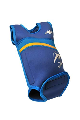 Konfidence Babywarma Baby-Neoprenanzug -Blau (Nautical Wave) ,0-6 Monate - Babys Für Schwimmweste