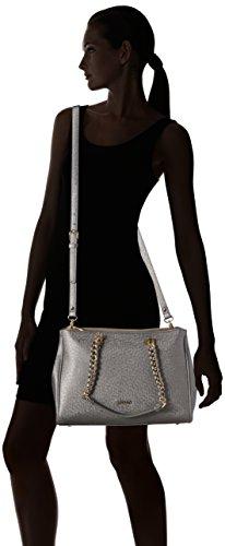 Liu Jo SHOPPING BAG ANNA CHAIN A66004E0087 Damen Schultertaschen 34x24x13 cm (B x H x T) Grau (Gun metal 90011)