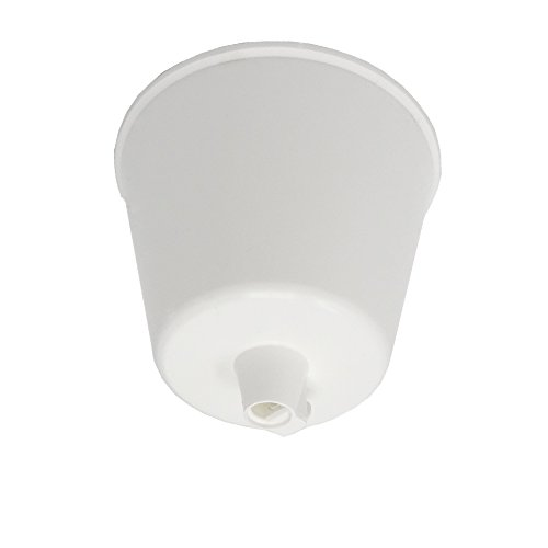 Baldachin weiß Kunststoff ø 92x70mm mit Feststellschraube für Zuleitung Lampenkabel Pendelleuchte