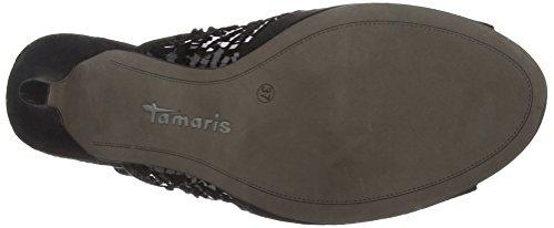 Tamaris - 28001, Sandali Donna Nero (Schwarz (schwarz (BLACK COMB 098)))