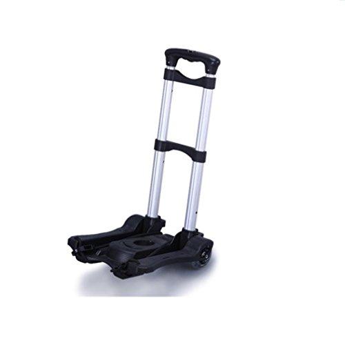 Einkaufswagen -Foldable Home Portable Shopping Lebensmittelgeschäft Faltbarer Karton - Dritter Gang Höhenverstellbar, schwarz