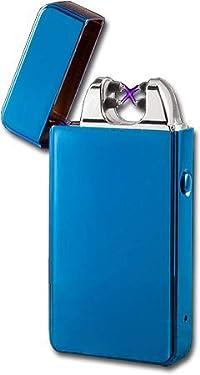 Electronic USB Plasma Double X Arc Rechargeable Cigarette Lighter (Tesla Coil) (Blue Glossy)