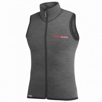 Woolpower Damen Herren Funktionsweste Vest 400, Farbe:grau, Größe:L (Herren Weste Wolle)