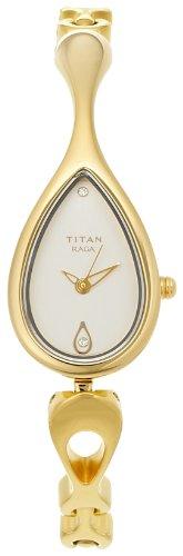 31c2tnUd%2BLL - Titan NE2400YM01 Raga Silver Women watch