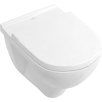 Villeroy & Boch 9M38S101 Abattant de WC en acier inoxydable Blanc