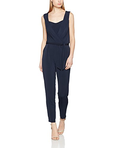 ESPRIT Collection Damen Jumpsuits 027EO1L003, Blau (Navy 400), 36 (Herstellergröße: S)