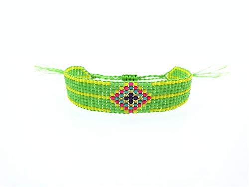 ZUXIANWANG Damenarmband,Grün Handgefertigt Seedbeads Freundschaft Armband Perlen Benutzerdefinierte Mehrfarbig Auge Freundschaftsbänder Für Frauen Männer 2019