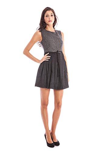 LAVAND. 125C34-20-3 Kurtzes Kleid Damen grau GREY