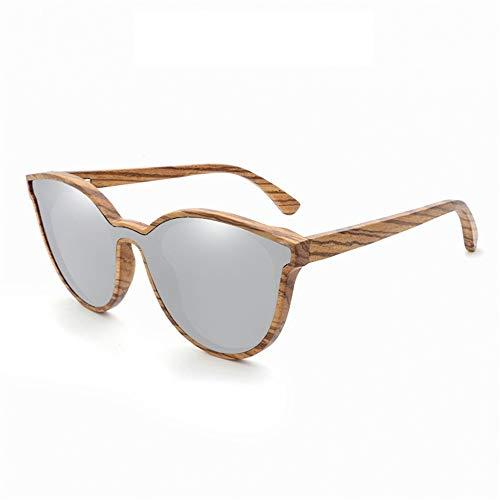 YJiaJu Holz Bambus Neue Unisex Hand Machen Sonnenbrillen Mode persönlichkeit Bambus Sonnenbrillen uv400 für Unisex Bunte Spiegel Freizeit Klassische Sonnenbrille (Color : B3)