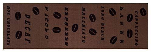Alfombra de Cocina, Antideslizante, Lavable, Resistente, con Base de Goma, diseño de café en Varios...
