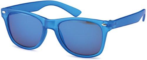 Kindersonnenbrille angesagte Sonnenbrille für Kinder im wayfarer-Style, Gestell-matt transparent-blau