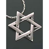 Tradizionale forma di stella di David, in argento Sterling 925, con catenina, regalo ideale per matrimoni, Bar Mitzvah e Bat Mitzvah
