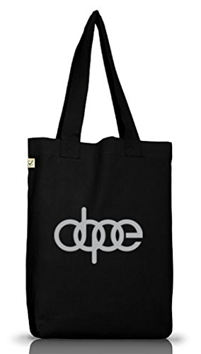 Shirtstreet24, Dope Ringe, Jutebeutel Stoff Tasche Earth Positive (ONE SIZE) Black