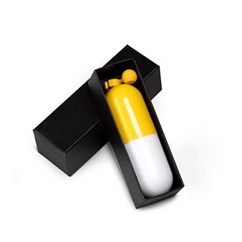 ADRIANO PORCARO® - Regenschirm - Taschenschirm - Mini Regenschirm - klein, leicht & kompakt - UV undurchlässig inkl. Schirm-Tasche & Reise-Etui (Gelb)