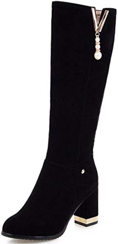 AIKAKA AIKAKA AIKAKA Donne Autunno e Inverno Europa e America Sexy Scarpe Tacco Alto Calde Stivali Alti a Tubo | Lascia che i nostri prodotti vadano nel mondo  e422a5