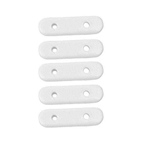 Stylelex Hochwertige lackierte Bleibstäbe - 13g 25g 50g - weiß - je 5 Stück (13g/Stück)