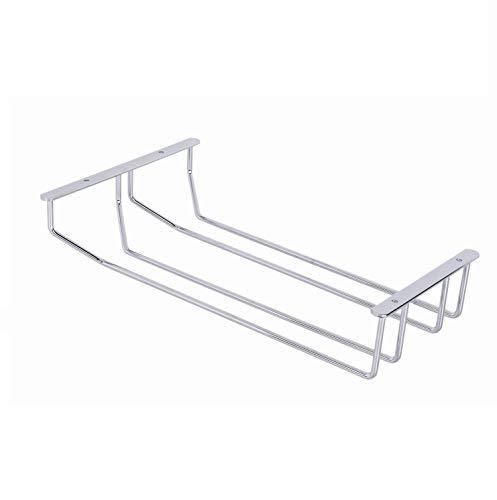 Gedotec Bar Weinglas-Halterung Gläserschiene für Deckenmontage | Glashalter Stahl verchromt | Glas-Aufhängung mit 2-Schienen 213 x 65 x 340 mm | 1 Stück