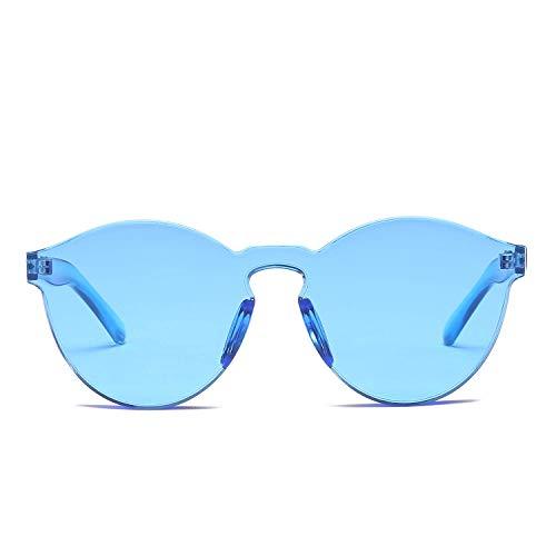 WYJW Für Frauen \u0026 Männer Übergroße Einteilige Klare Linse Randlose Getönte Sonnenbrille 58mm Vintage Klassische Sonnenbrille