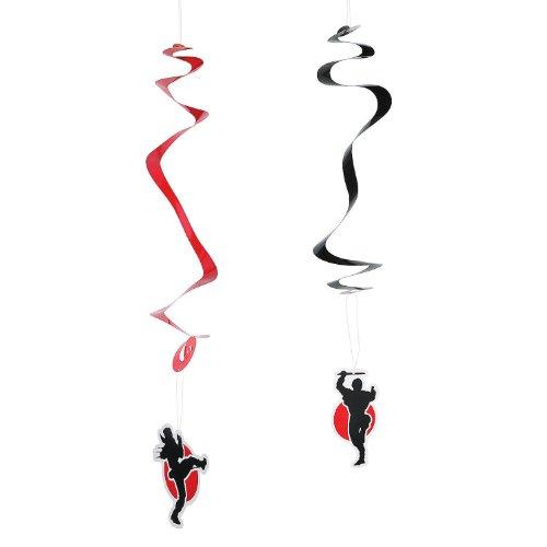 Ninja Warriors à suspendre tourbillons – 12 ct