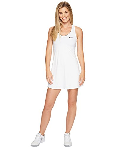 Nike Damen Court Pure Kleid, White/Black, L