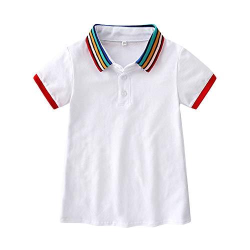 Hongyuangl Polo Shirt Kleid Kinder Mädchen lässig Schuluniform Kleid Cheerleading Tanzkleid -