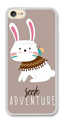 BBhappiness Custom ipod Touch 6 Cases - Adventure Rabbit Hard Plastic Phone Cell Case for ipod Touch 6
