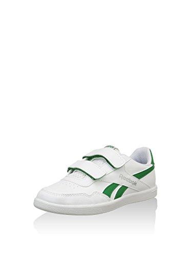 Reebok M46732 Reebok Royal Effect Alt Calzature da Bambino, Bianco / Verde, 31 Bianco / Verde