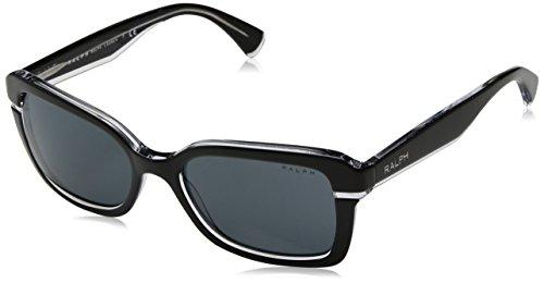 Ralph Lauren Ralph by Damen 0RA5239 170187 54 Sonnenbrille, Black Crystal/Blueegreysolid Ralph Lauren Crystal