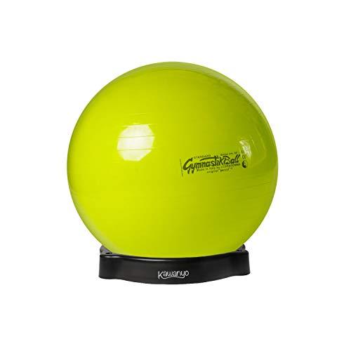 Pezzi Original Gymnastikball Ø 42 cm bis 75 cm inkl. Ballschale bis 400 kg belastbar Training Fitness Reha Therapie Sitzball Gymnastik Ball Büro Sport (Lindgrün, Ø 65 cm - bis 175 cm Körpergröße)