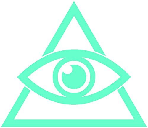 Samunshi® Aufkleber Auge der Vorsehung 1 für Auto Motorrad in 9 Größen und 25 Farben (70x61cm Mint) -