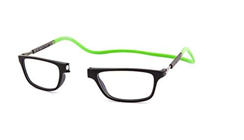Neu Slastik Magnetisch Clic Stil Lesebrille Rahmen Jabba 002 Brechkraft +3.50 mit weichem Brillentui