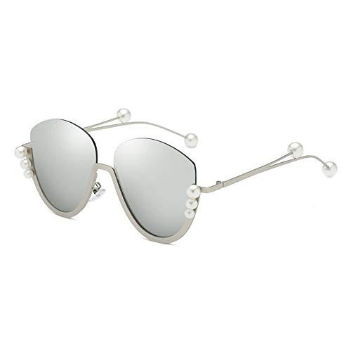 Yangxuelian Damensonnenbrille Womens Mirrored Flache Linsen Straße Metall Frameless Brillengestell UV400 Schutz Für Radfahren Angeln Fahren 8 Farben Sonnenbrille für Frauen 100% UV-Schutz