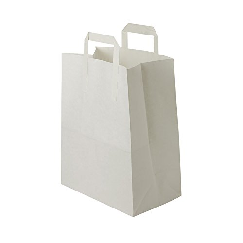 BIOZOYG bolsas papel blanco Asa I bolsa papel respetuosa